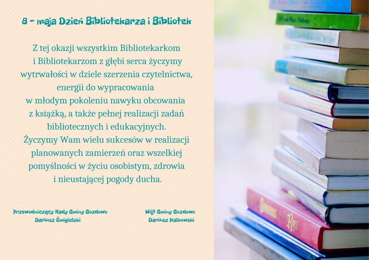 8 maja – Dzień Bibliotekarza i Bibliotek