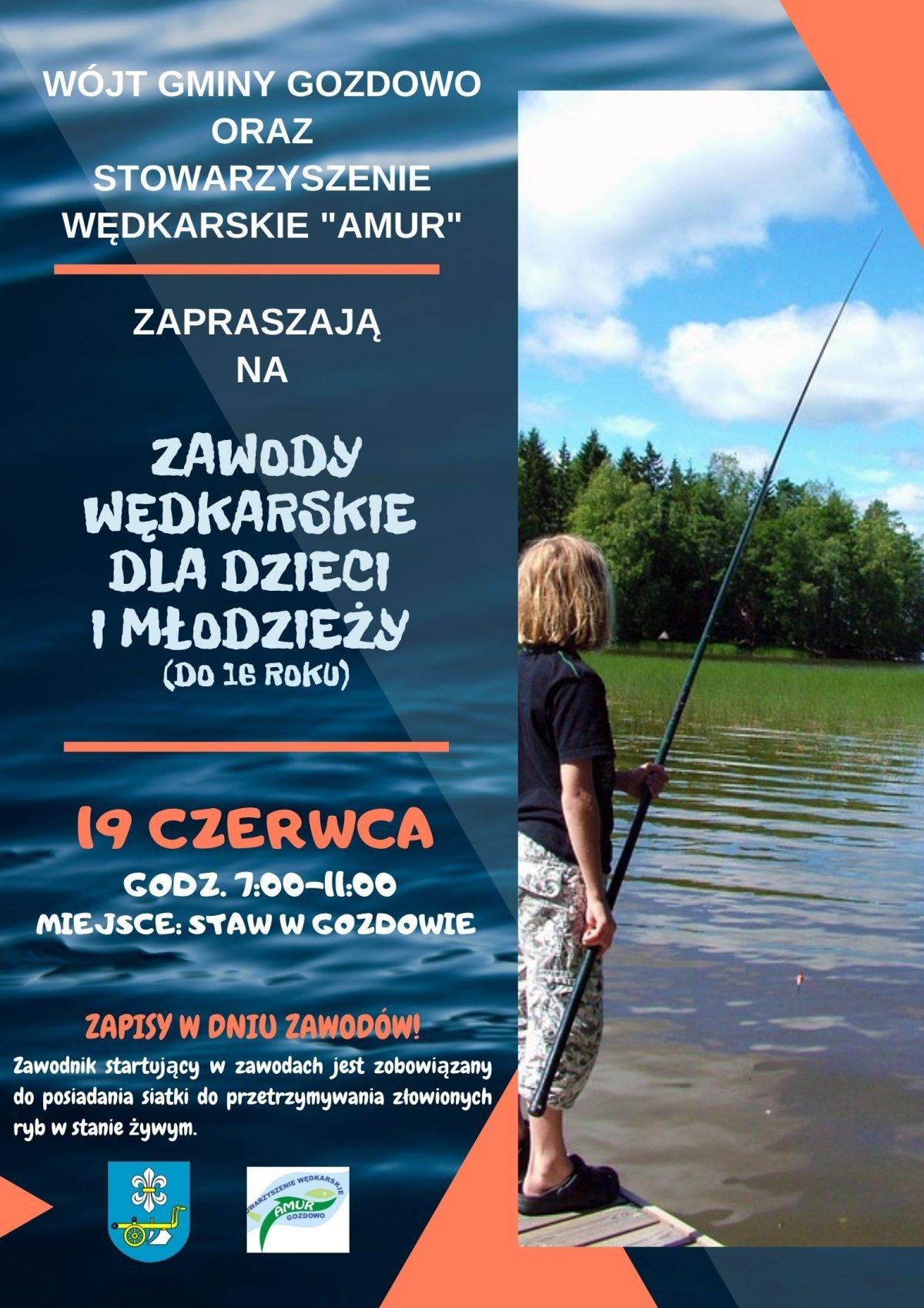 Zaproszenie – Zawody Wędkarskie dla dzieci i młodzieży.