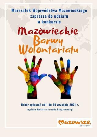 """Konkurs """"Mazowieckie Barwy Wolontariatu"""""""